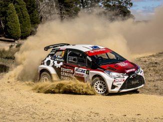 Harry Bates Yaris rally car