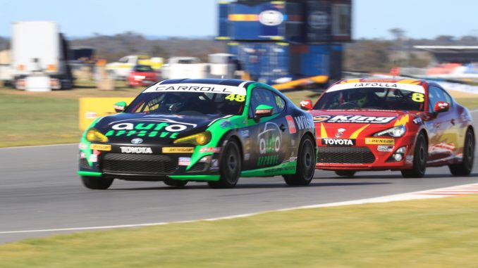 Nic Carroll on track for his first win the Toyota 86 Racing Series