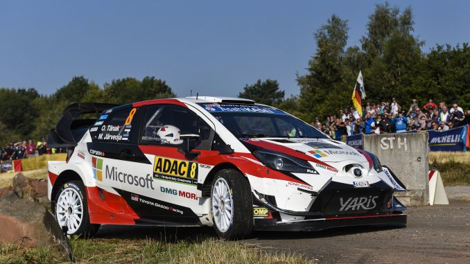 Toyota celebrates first and third in Germany