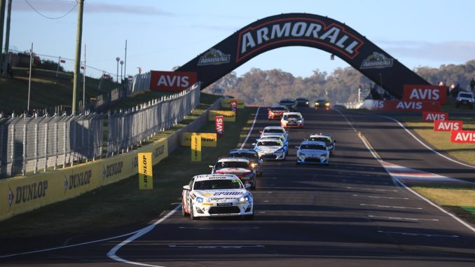 Tim Brook on his way to a win at Bathurst in Race 15 on Sunday