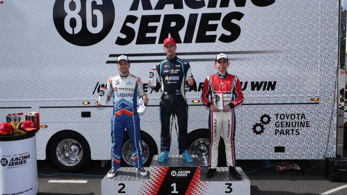 Series leader Tim Brook took the first win of the weekend in Race 10 with Luke King in second and Broc Feeney in third