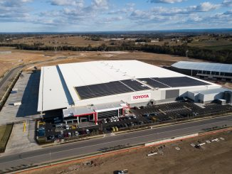 Toyota Australia Solar Energy on Toyota Parts Centre (TPC) in western Sydney