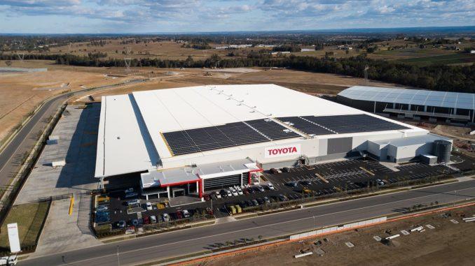 Toyota Australia Solar Energy on Toyota Parts Centre (TPC) in western Sydney